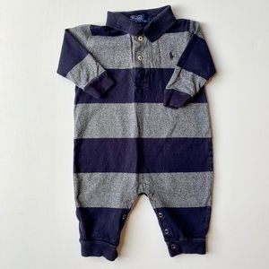 Ralph Lauren Baby Boy Striped Polo Outfit